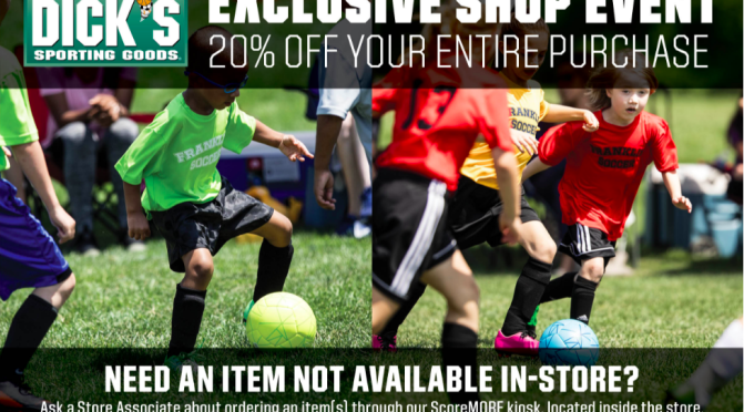 dick's sporting goods fall shop event